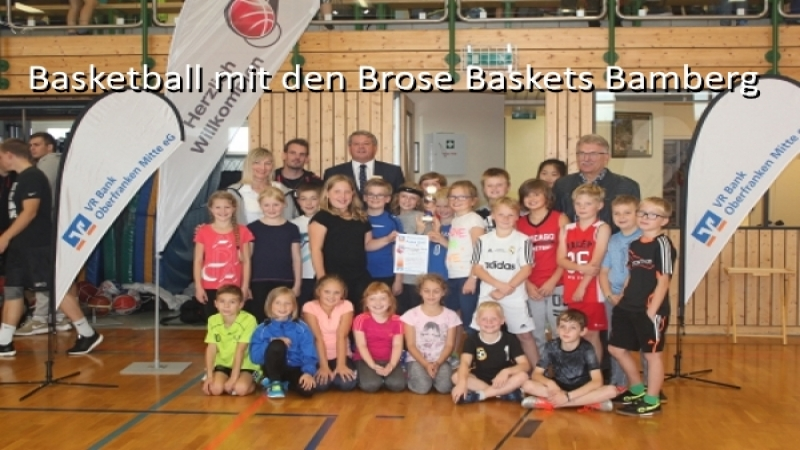 Basketball mit den Brose Baskets
